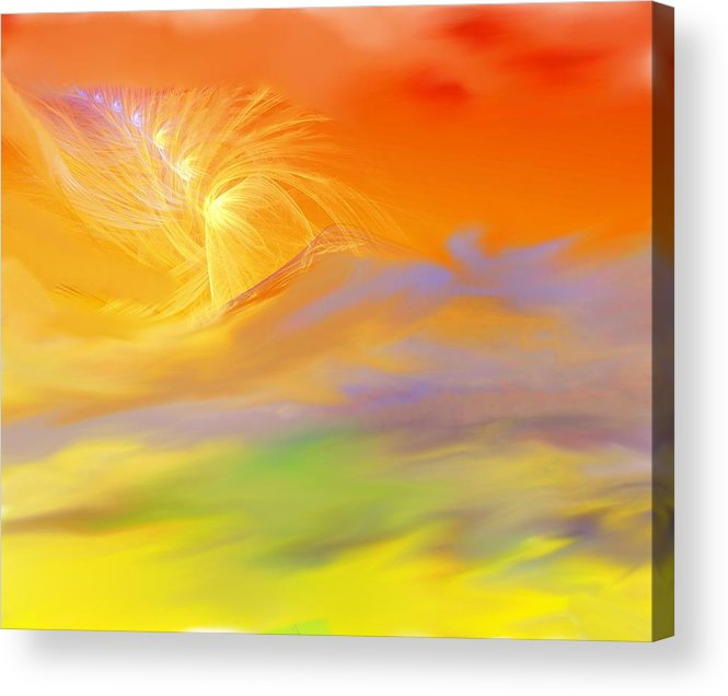 Fine Art Acrylic Print featuring the digital art A Band Of Angels Coming After Me by David Lane