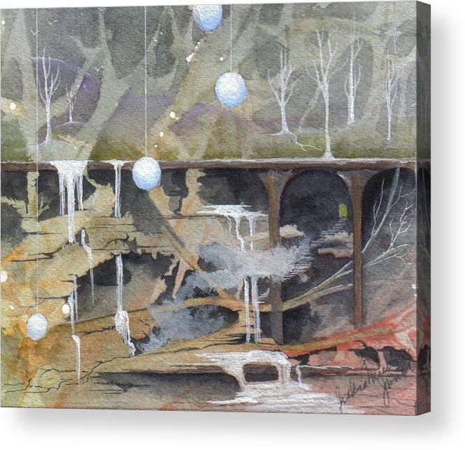 Fantasy Landscape Acrylic Print featuring the painting Beata's Destiny by Jackie Mueller-Jones