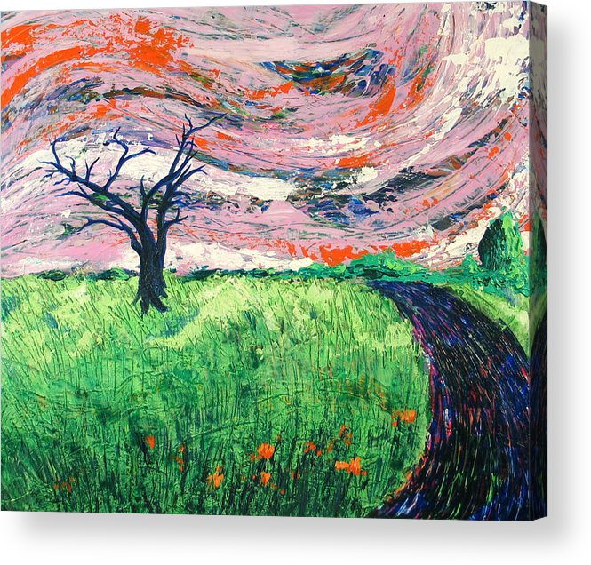 Landscape Acrylic Print featuring the painting Bend by Rollin Kocsis