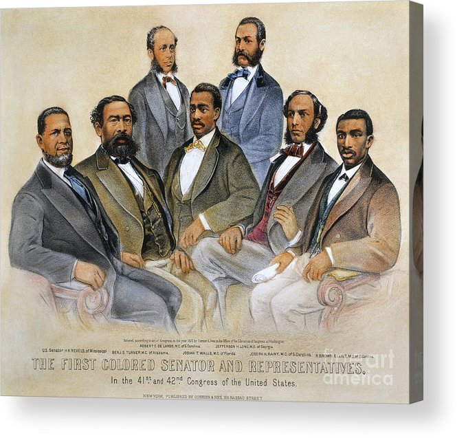 -acts & Administrations- Acrylic Print featuring the photograph Black Senators, 1872 by Granger