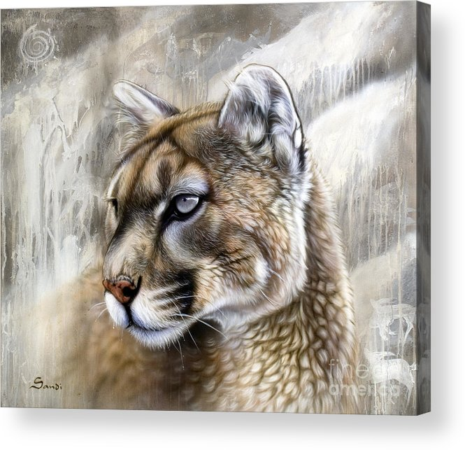 Acrylic Acrylic Print featuring the painting Catamount by Sandi Baker