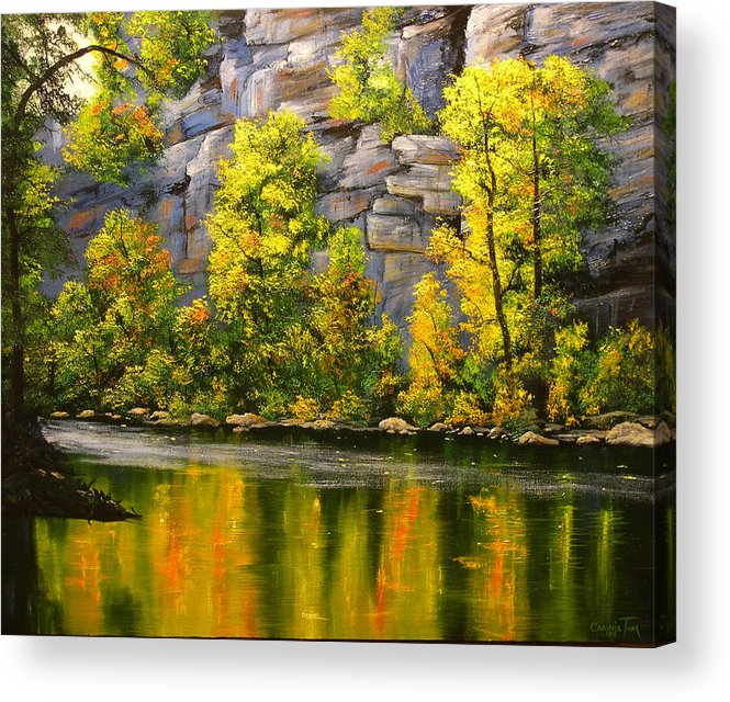 Connie Tom Acrylic Print featuring the painting Cold Water Creek by Connie Tom