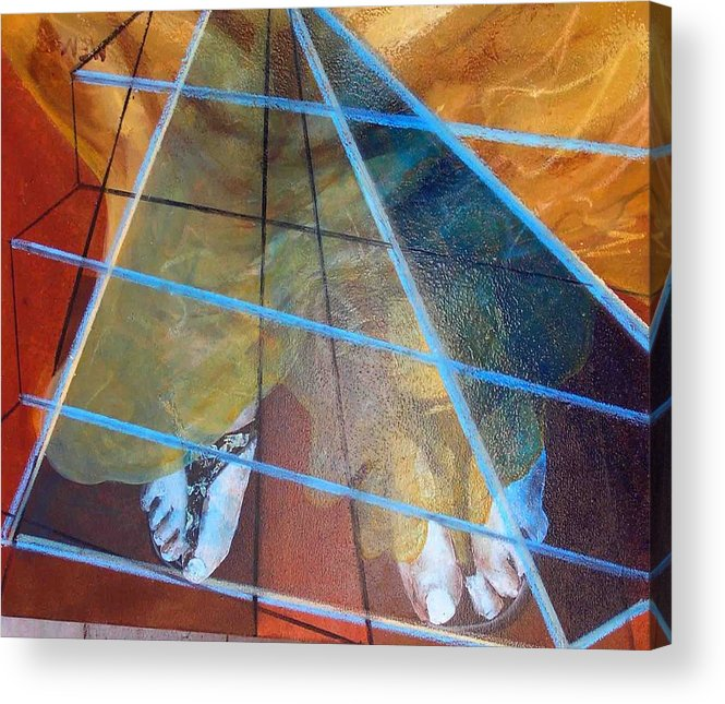 Acrylic Print featuring the painting dream about Egypt by Evguenia Men