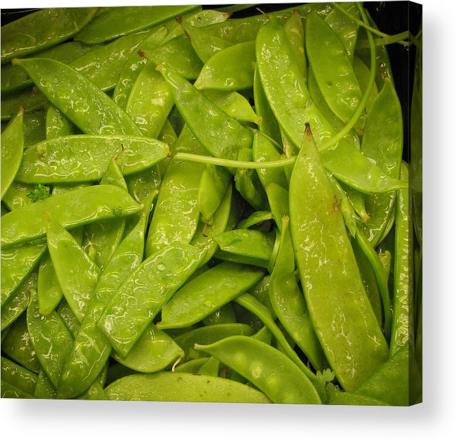 Vegetables Acrylic Print featuring the photograph Fresh Peas by Laurie With