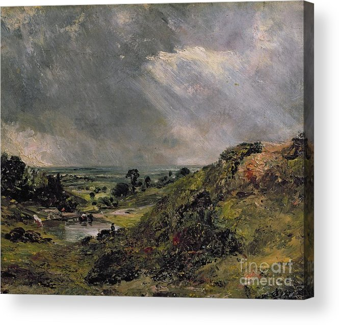 Hampstead Acrylic Print featuring the painting Hampstead Heath by John Constable