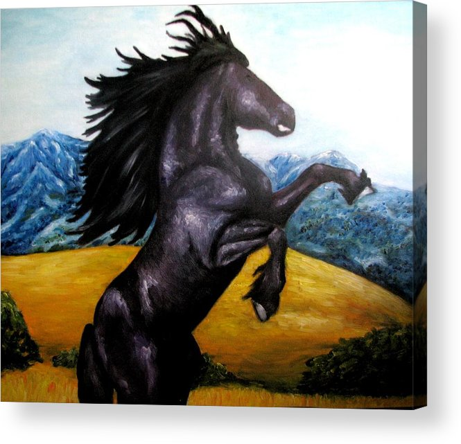 Horse Acrylic Print featuring the painting Horse Oil Painting by Natalja Picugina