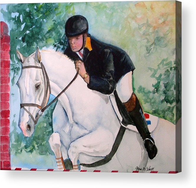 Equine Acrylic Print featuring the painting Jumper by Gina Hall