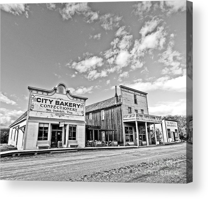 History Acrylic Print featuring the photograph old town of Fort Steele BC Canada by Emilio Lovisa