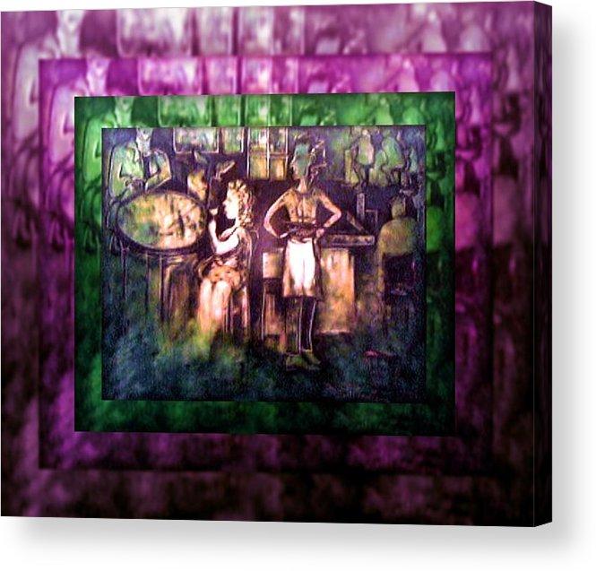 Joan Kamaru Acrylic Print featuring the painting Order Here by Joan Kamaru