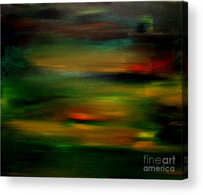 Sunset Acrylic Print featuring the painting Peninsula Sunset 2 by Karen L Christophersen