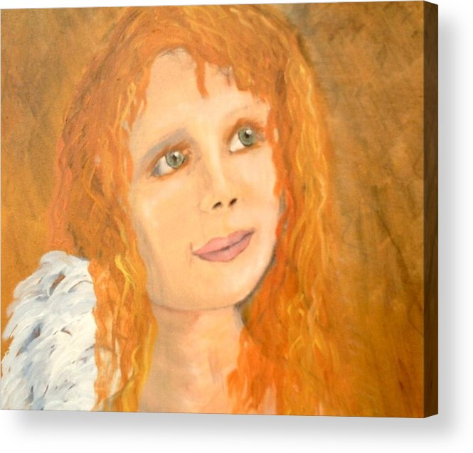 Angels Acrylic Print featuring the painting Red Wishes by J Bauer