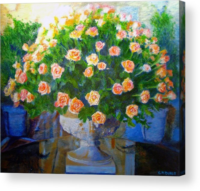 Rose Acrylic Print featuring the painting Roses At Table Bay by Michael Durst