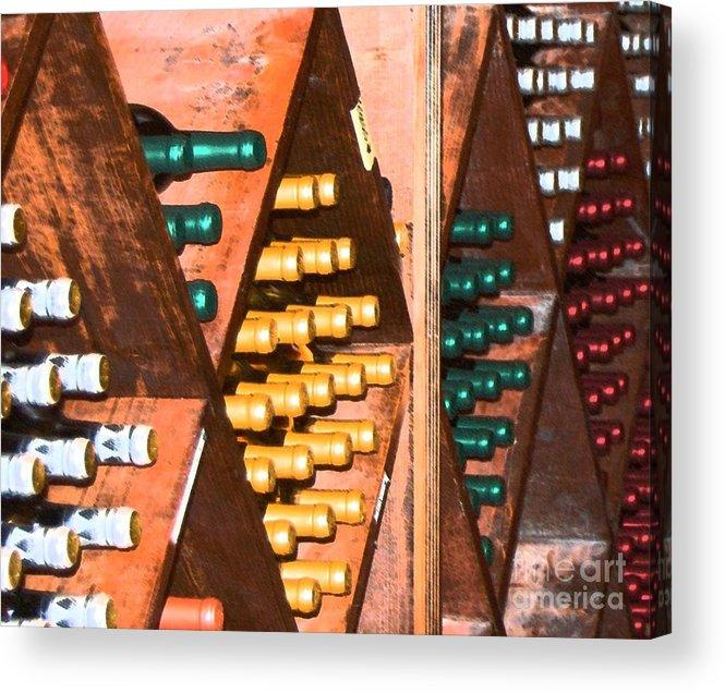 Wine Acrylic Print featuring the photograph Sideways by Debbi Granruth