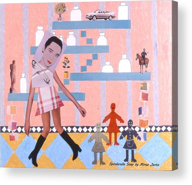 Cowboy Acrylic Print featuring the drawing Soap Scene #16 Miracle Maids by Minaz Jantz