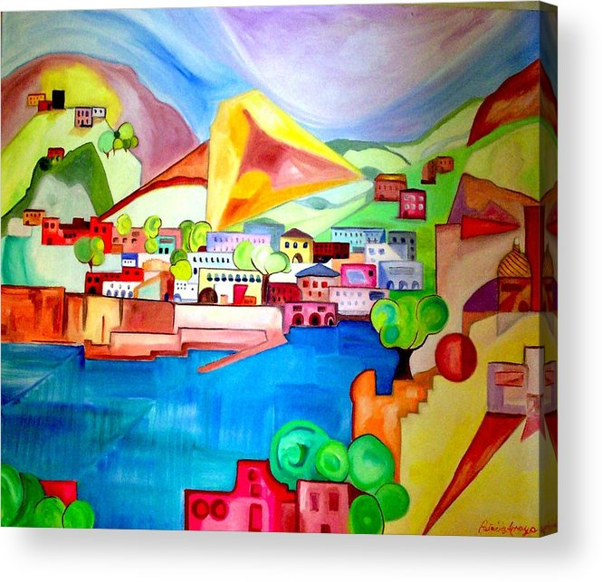 Abstract Acrylic Print featuring the painting Sorrento by Patricia Arroyo