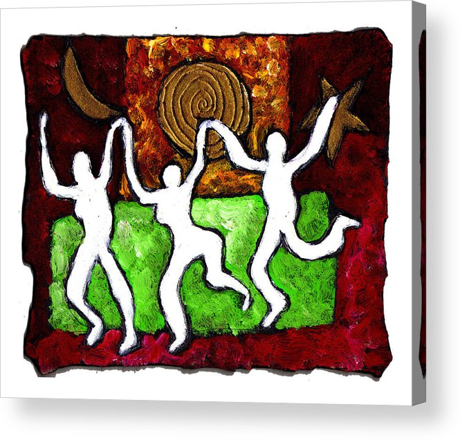 Dance Acrylic Print featuring the painting Spirits Of The Dance by Wayne Potrafka