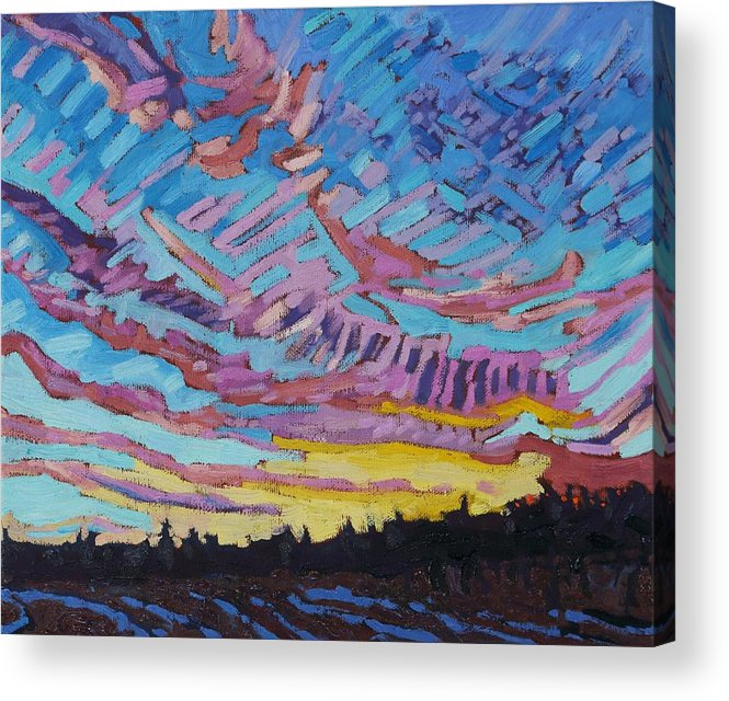 1906 Acrylic Print featuring the painting Sunrise Freezing Rain Deformation Zone by Phil Chadwick