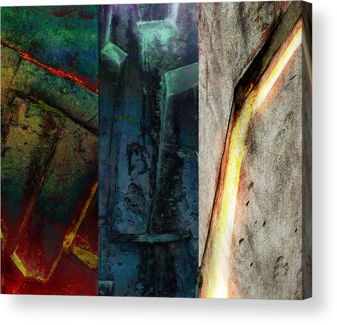 Zeus Acrylic Print featuring the digital art The Gods Triptych 1 by Ken Walker