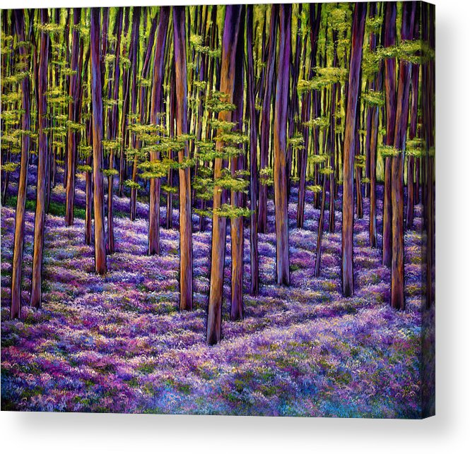 European Wildflowers Acrylic Print featuring the painting Wildflower Dreamscape by Johnathan Harris