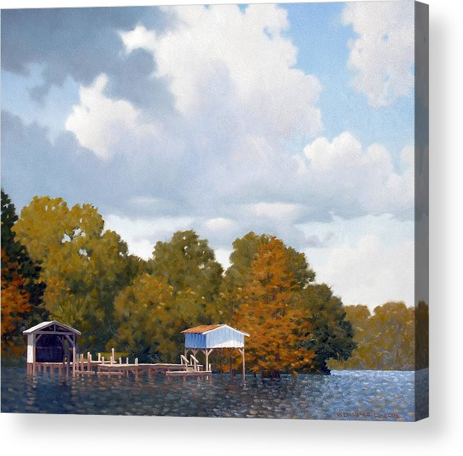 Bayou Acrylic Print featuring the painting Gone Fishing by Kevin Lawrence Leveque