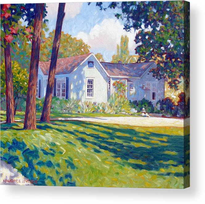 City Acrylic Print featuring the painting Artists Home by Kevin Lawrence Leveque