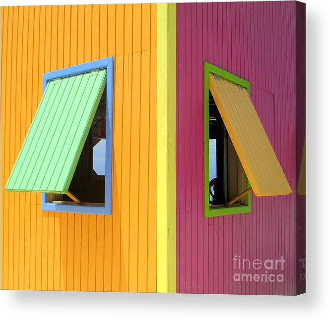 Caribbean Corner Acrylic Print featuring the photograph Caribbean Corner 3 by Randall Weidner