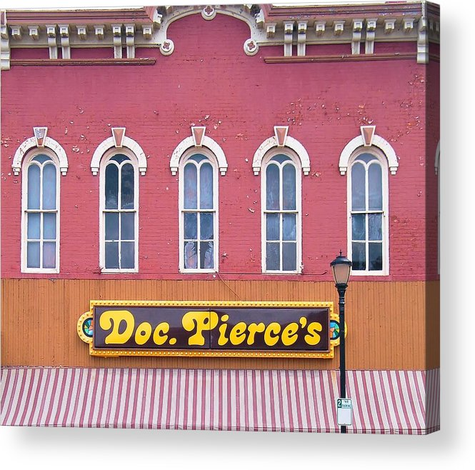 Building Acrylic Print featuring the photograph Doc Pierces Restaurant And Saloon Building Detail by Rory Cubel