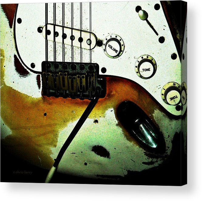 Music Acrylic Print featuring the photograph Fender Detail by Chris Berry