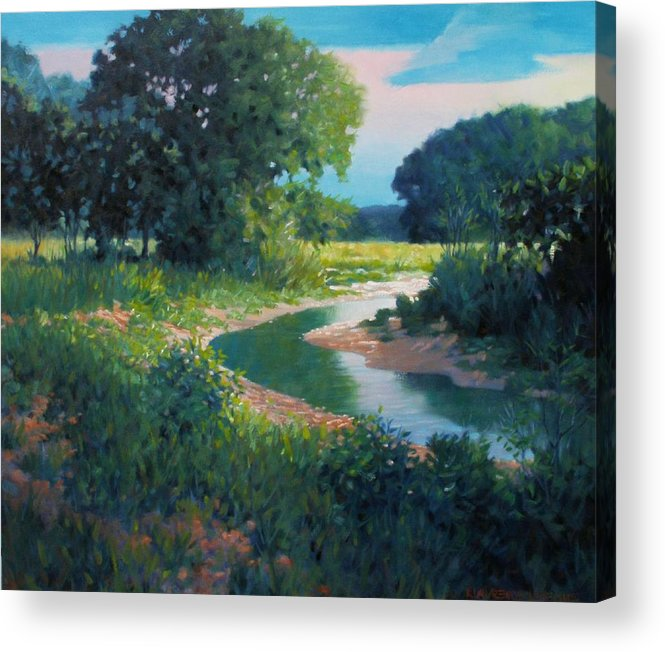 Landscape Acrylic Print featuring the painting First Light by Kevin Lawrence Leveque
