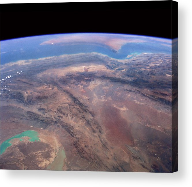 Iran Acrylic Print featuring the photograph Iran And Persian Gulf From Space by Nasa/science Photo Library