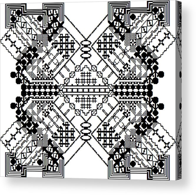 Geometric Acrylic Print featuring the digital art Mutated Division by John England