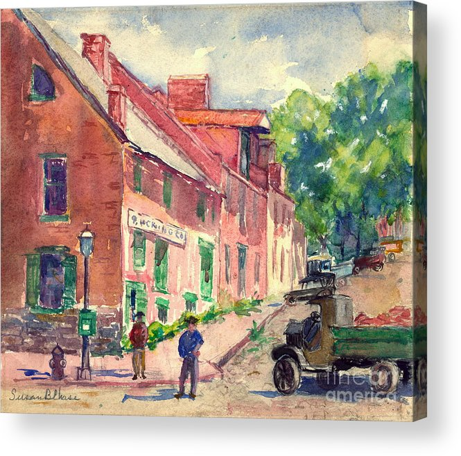 Old Georgetown Dc 1910 Acrylic Print featuring the photograph Old Georgetown Dc 1910 by Padre Art