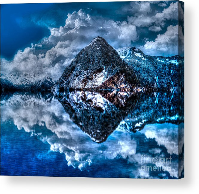 Reflection Acrylic Print featuring the photograph Reflection Lake by Luther Barnett