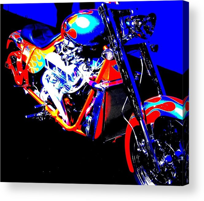 Cycle Acrylic Print featuring the photograph The Motorcycle As Art by Don Struke