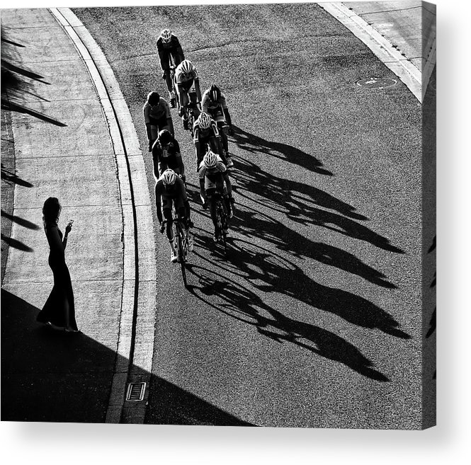 Cycling Acrylic Print featuring the photograph The Supporter by Lou Urlings