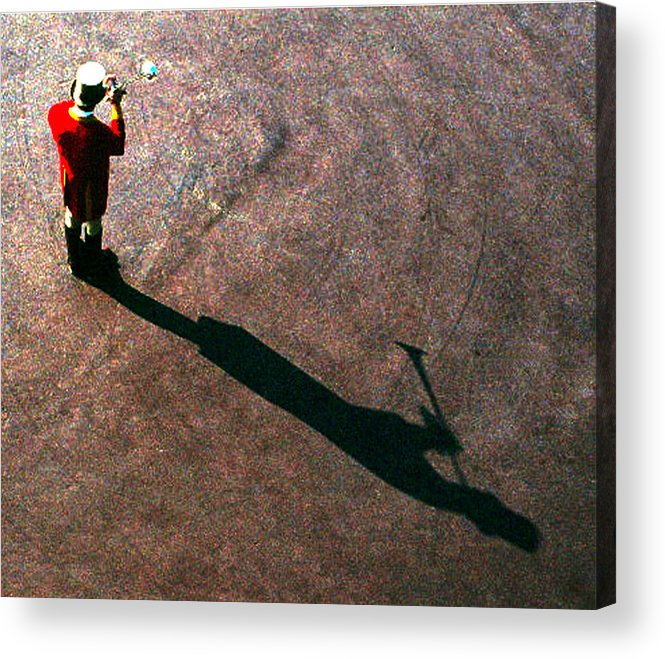 Trumpet Acrylic Print featuring the photograph Trumpet Shadow by Mark Sullivan