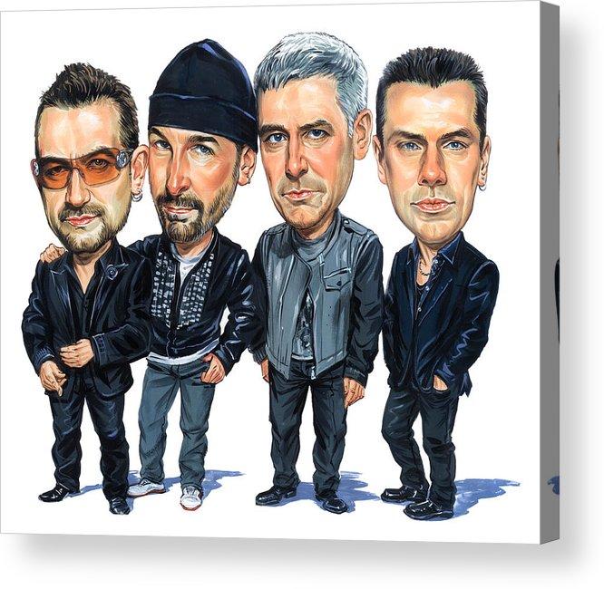 U2 Acrylic Print featuring the painting U2 by Art