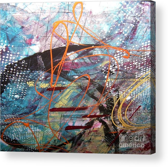 Abstarct Acrylic Print featuring the painting 8ghty6subcut by Alex Blaha