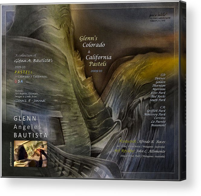 Art Book Acrylic Print featuring the pastel Colorado-california Art Book Cover2 by Glenn Bautista