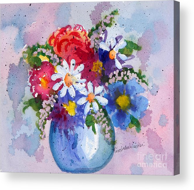 Daisies Acrylic Print featuring the painting Company Again by Kimberlee Weisker