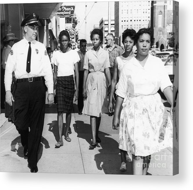 1963 Acrylic Print featuring the photograph Mississippi: Sit-in, 1963 by Granger