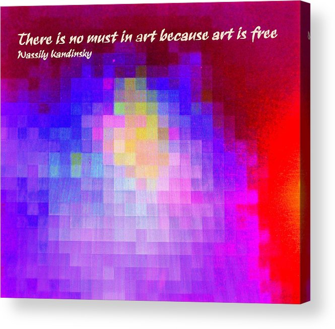 Abstract Acrylic Print featuring the digital art No Must In Art by Ian MacDonald