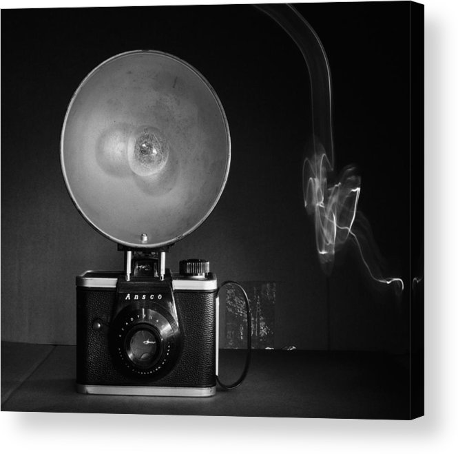 Flash Light Art Acrylic Print featuring the photograph Old Ansco Camera by Susan Stone
