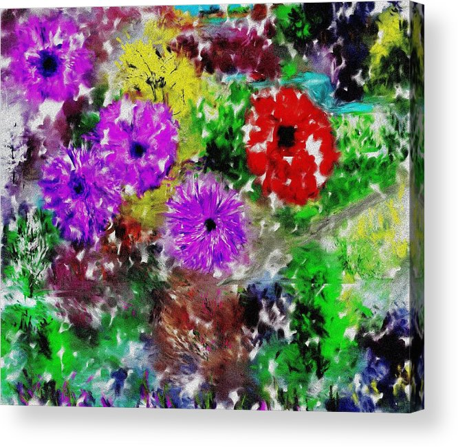 Landscape Acrylic Print featuring the digital art Dream Garden II by David Lane