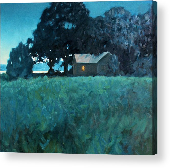 Landscape Acrylic Print featuring the painting Early Riser by Kevin Lawrence Leveque
