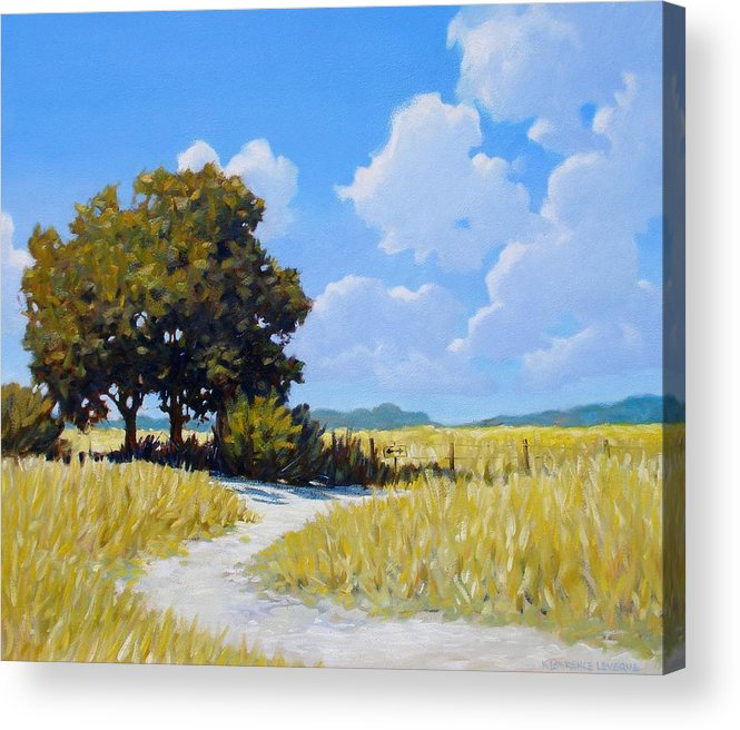 Landscape Acrylic Print featuring the painting Left Or Right by Kevin Lawrence Leveque