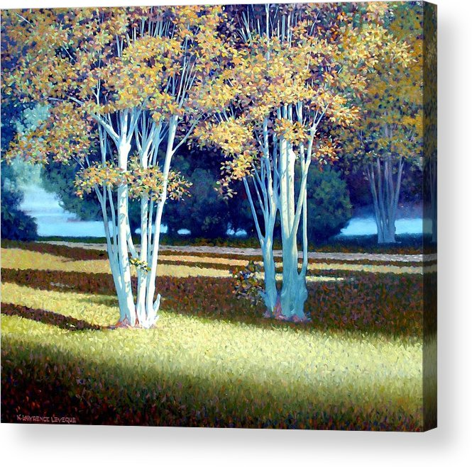 Fog Acrylic Print featuring the painting Morning Fog by Kevin Lawrence Leveque
