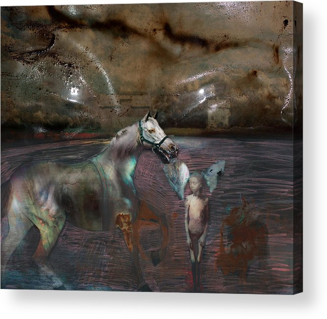 Death Acrylic Print featuring the digital art An Image Of Death by Henriette Tuer lund