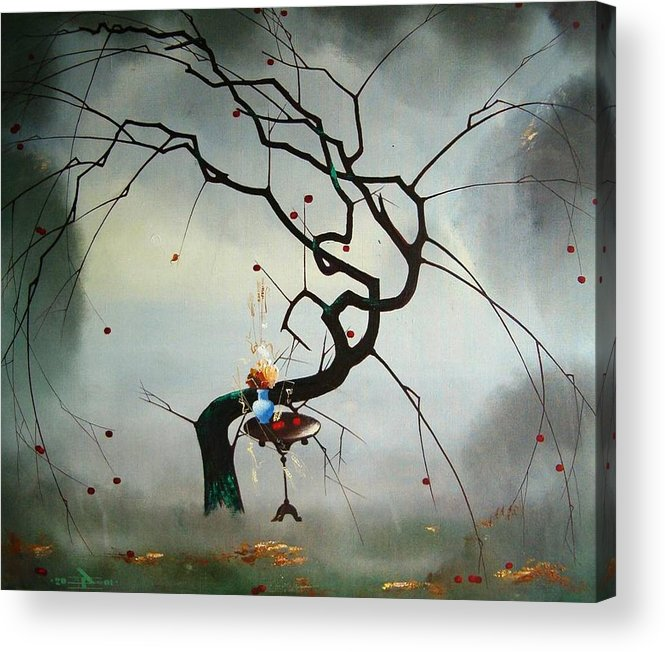 Still Life Acrylic Print featuring the painting Autumn by Andrej Vystropov
