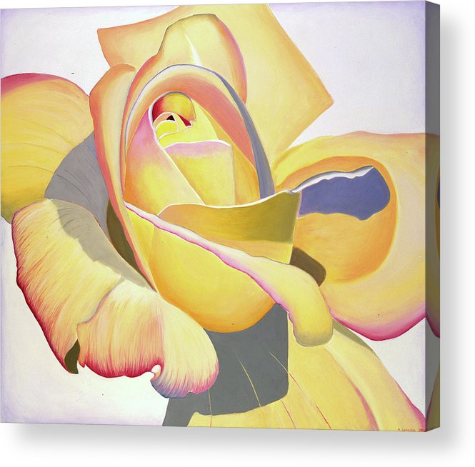 Realism Acrylic Print featuring the painting Brenda's Rose by Loraine LeBlanc